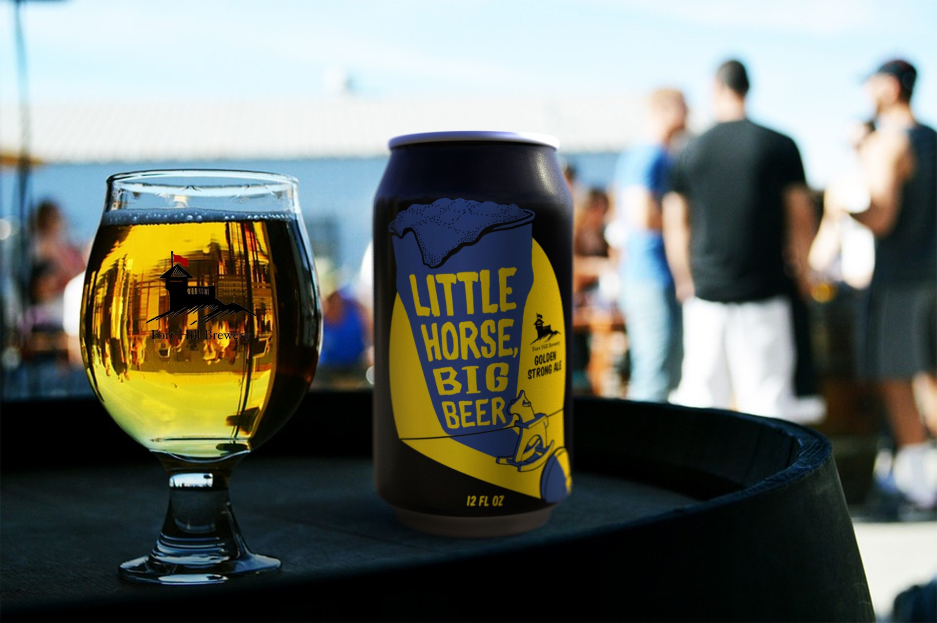 Design a craft brewery's golden ale label