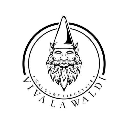 Create a beautiful gnome logo for a fashion brand