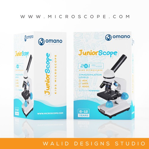 microscope for kids packaging design