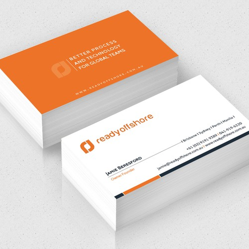 Create a contemporary looking business card for online company