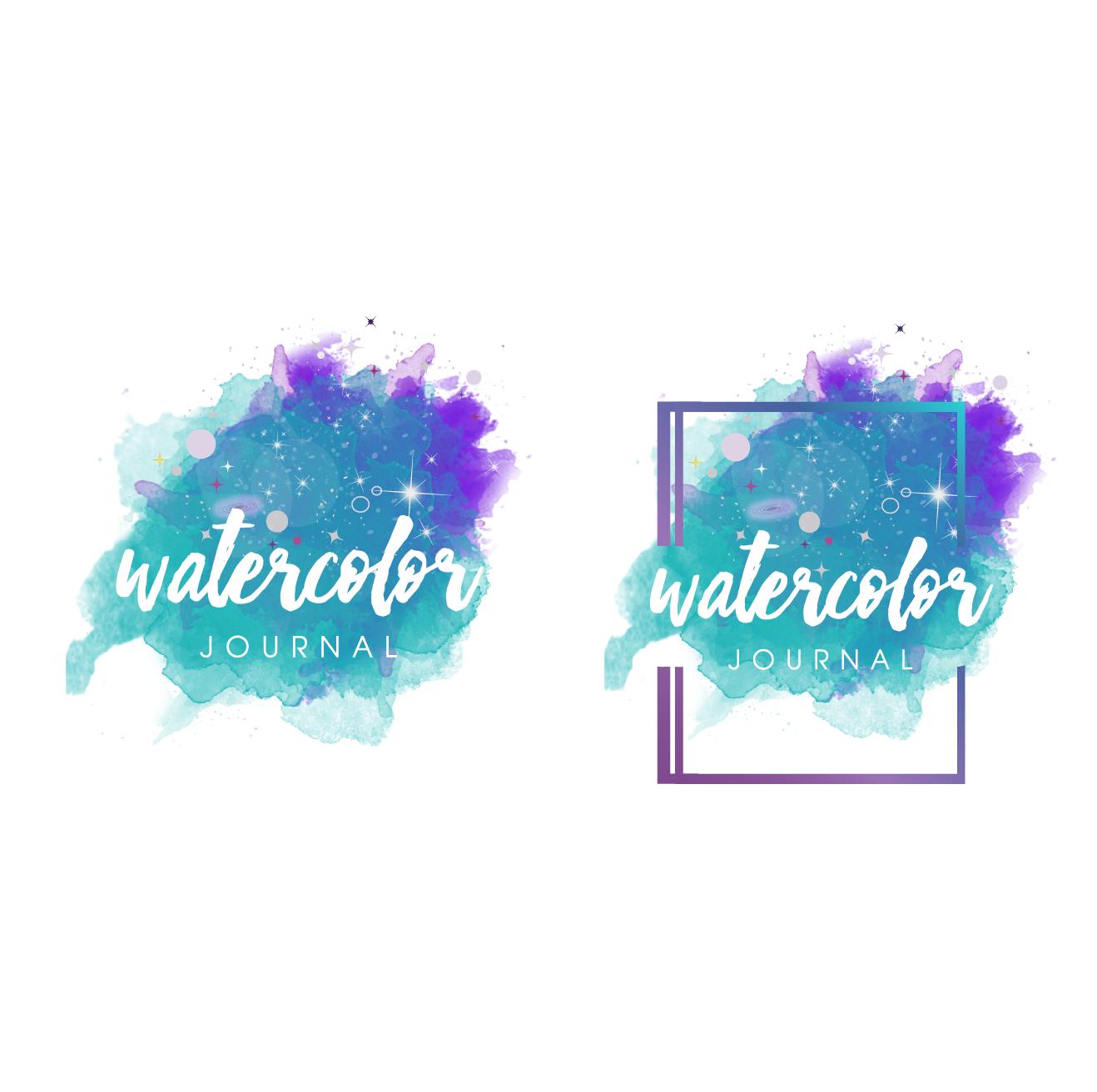 Design a splashy logo for a watercolor artist