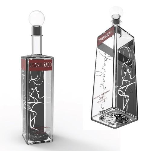 Mezcal bottle design