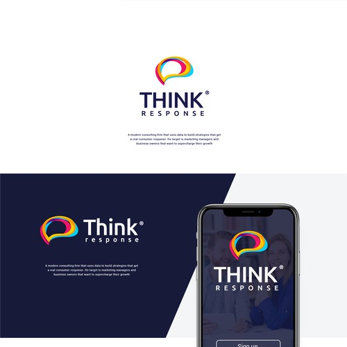 Bold Logo for think response