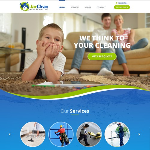 Create a modern and agile design for cleaning services.