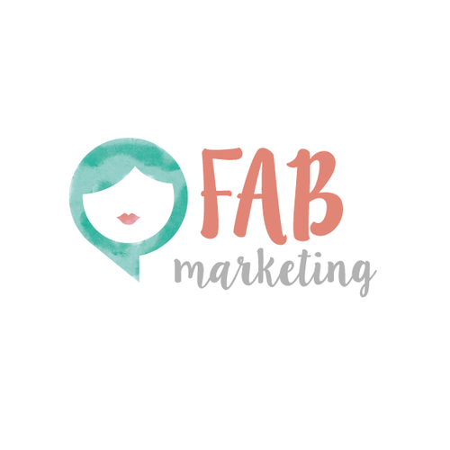 Feminine watercolor logo