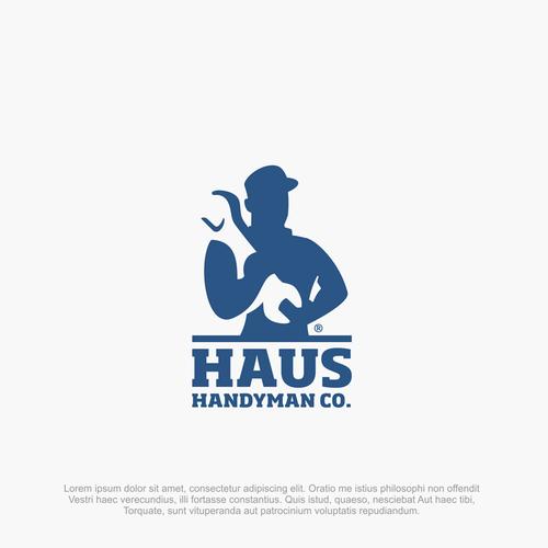 haus handyman logo concept