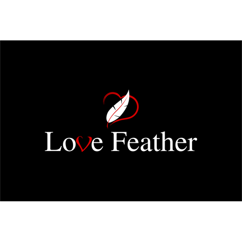 Love, Feather written in feathers or Love & a symbol or the word Love with 2 naked bodies as feather