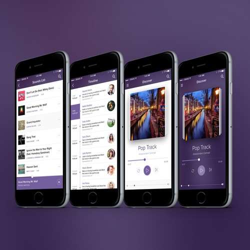 Social Music iOS App Design