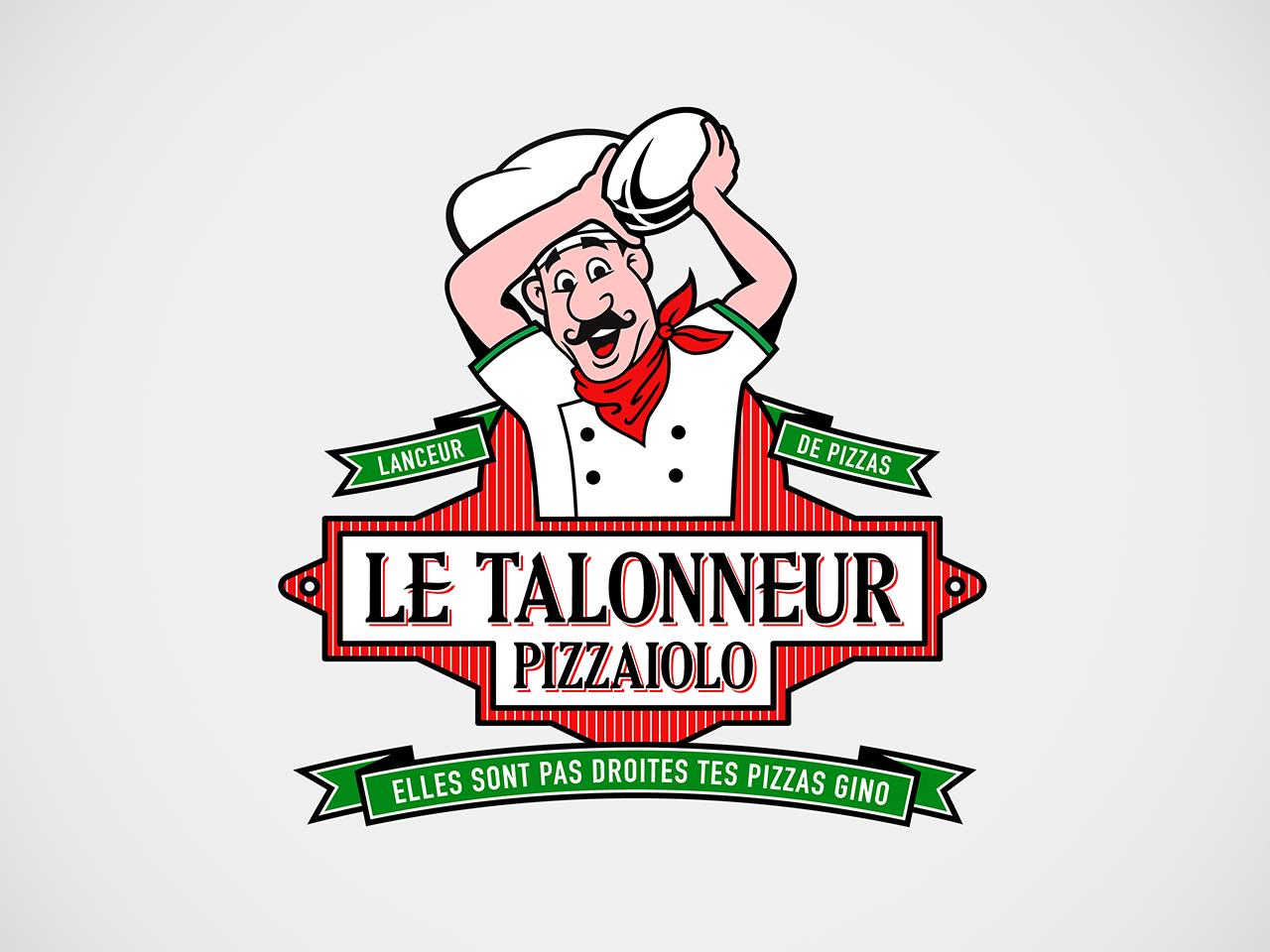 Create cool pizzaiolo logo for tee shirt