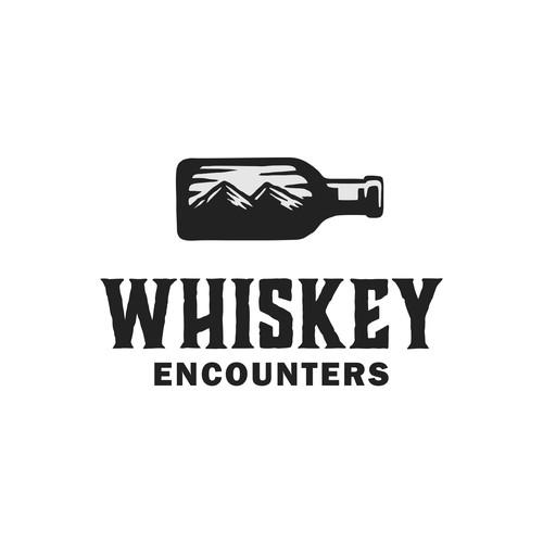 Whiskey encounters logo design