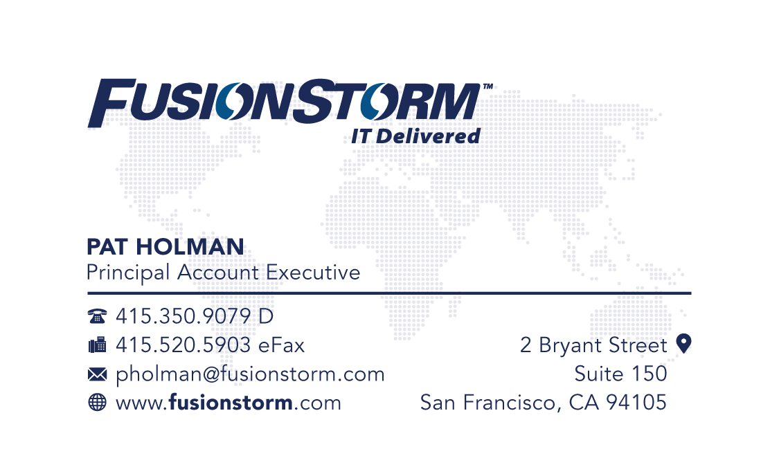 FusionStorm Business Cards, B2B technology company