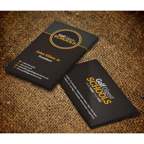 Golf Digest School Business Cards
