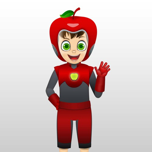 crazy apple character
