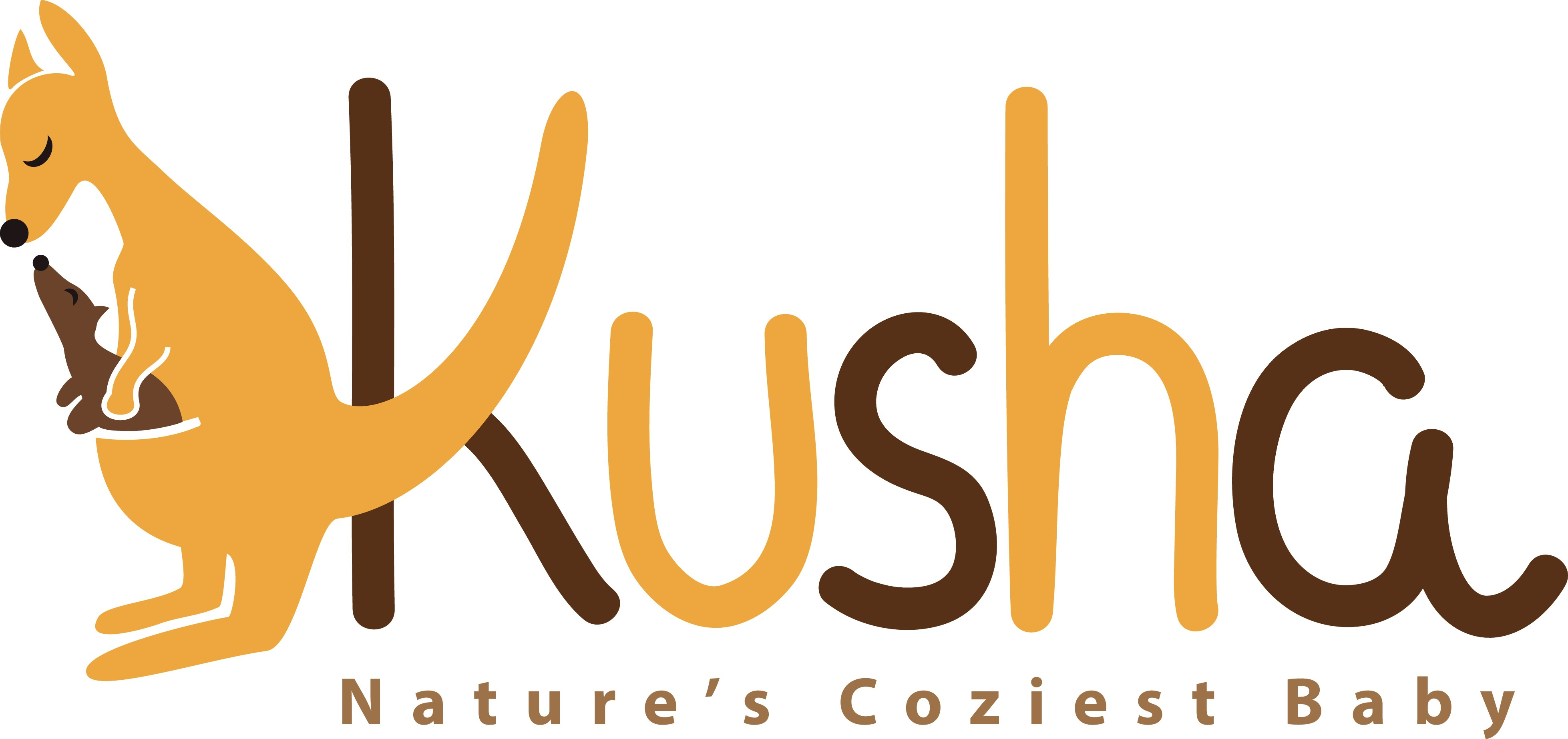 Create a logo for Kusha, a premium baby carrier brand for babies using more natural and comfortable fabrics