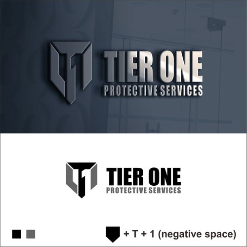 Strong logo with negative space concept