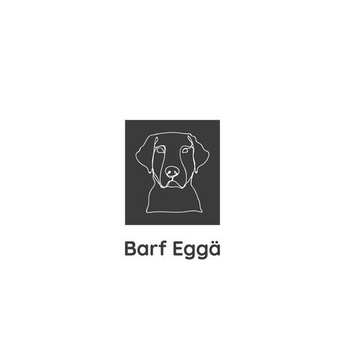 "Logo concept for ""Barf Eggä""."