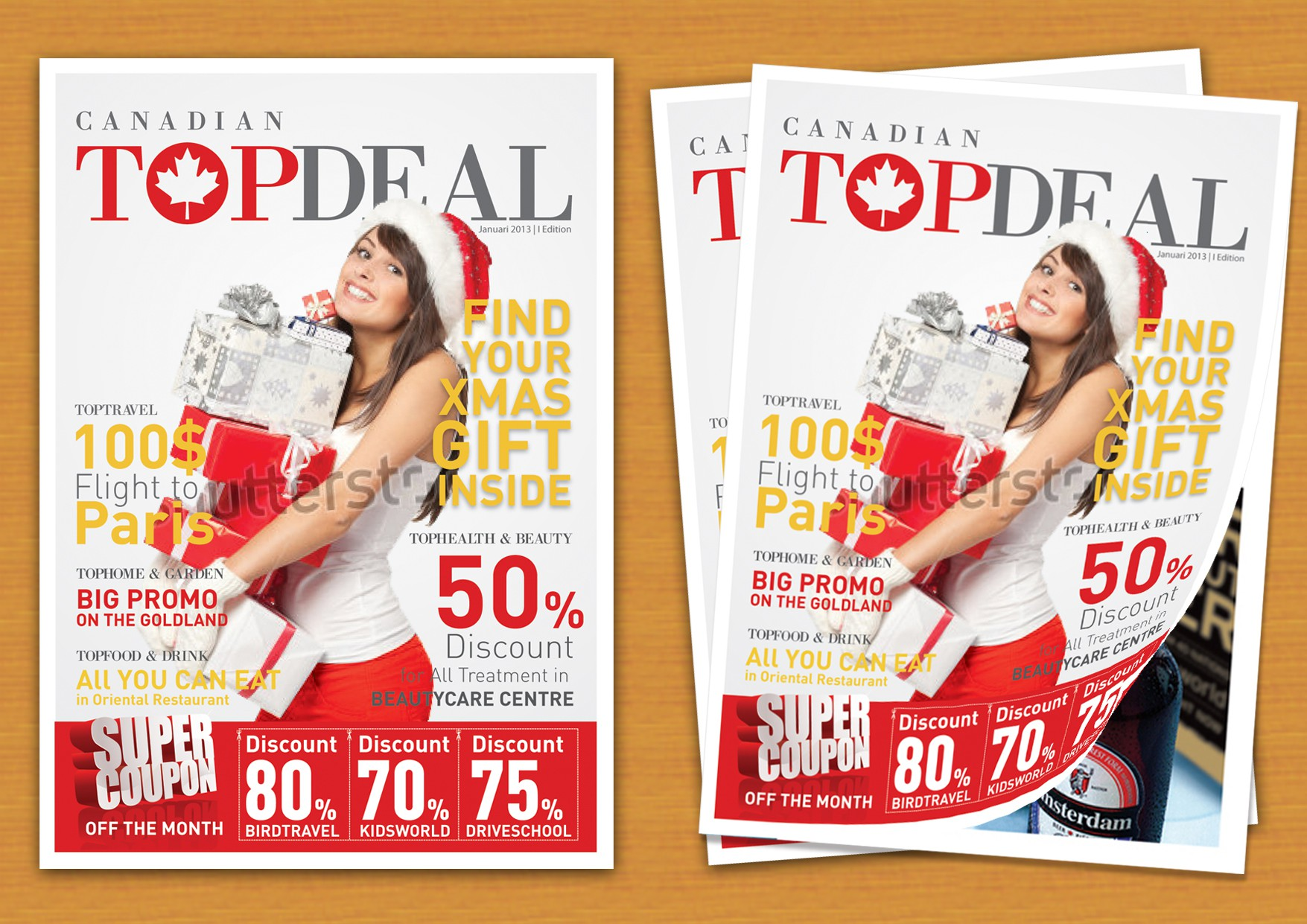Create the next book or magazine cover for Canadian Top Deals