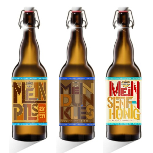 Craft beer labels for a small German brewery