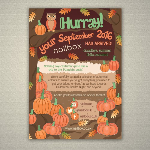 Flyer for monthly subscription box