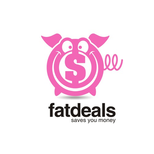 fat deals logo concept