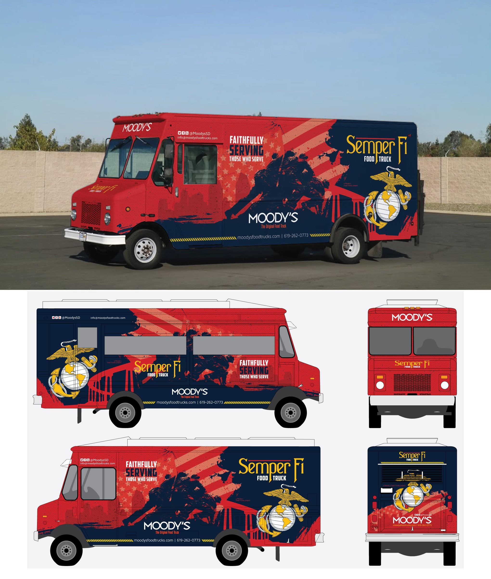 Design a Kickass Food Truck Wrap for Marine Base