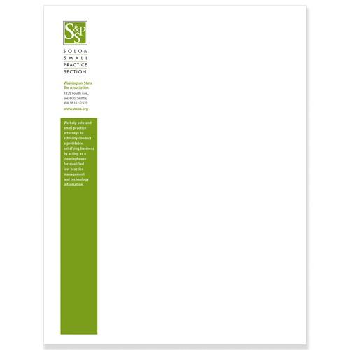 Stationary for 1,000-member attorney organization