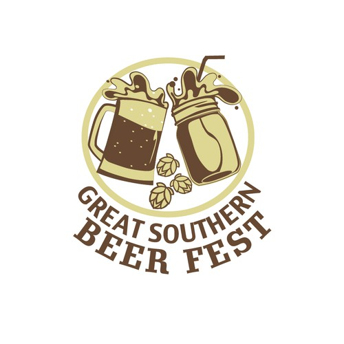 Bold logo concept for Beer Festival