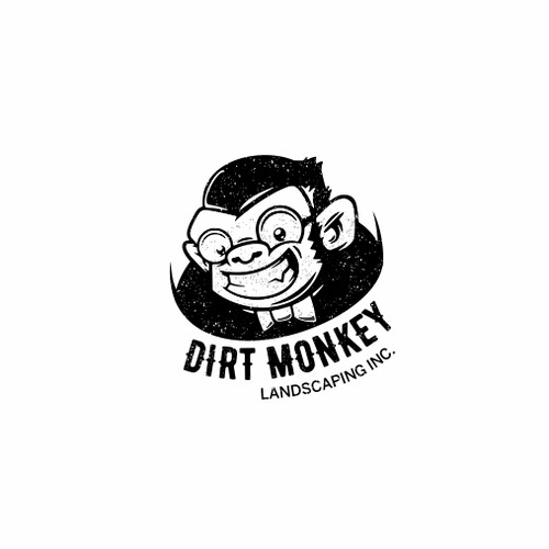 a logo for dirt monkey