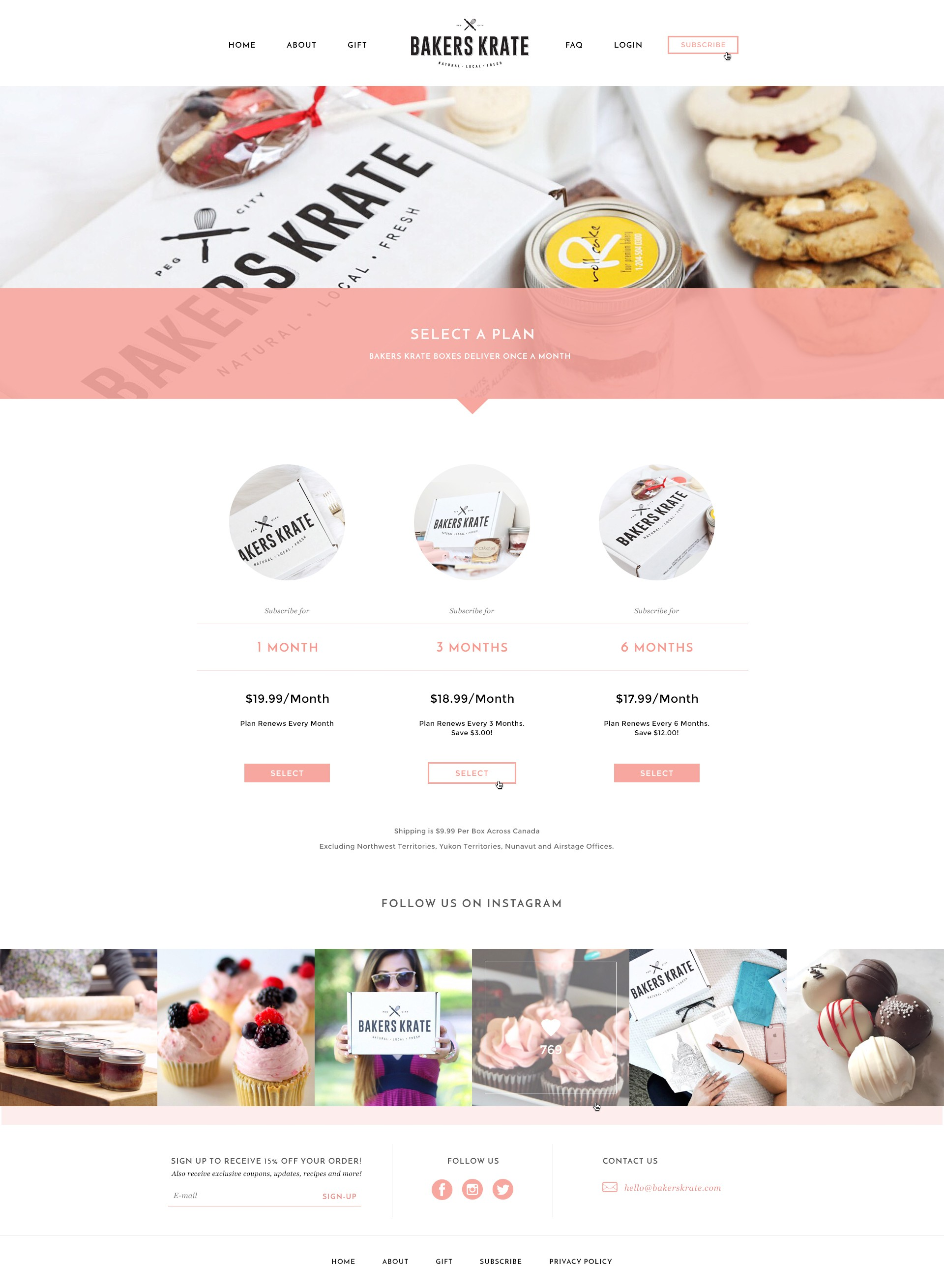 Create a Classy, Sophisticated Web Design for a Delicious Online Bake Shop for Bakers Krate!
