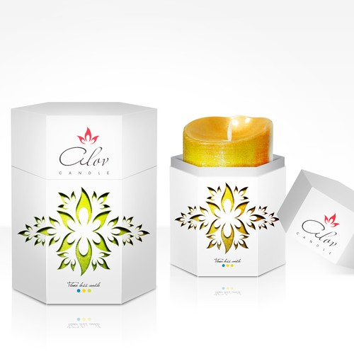 Create the next product packaging for Alov Candle