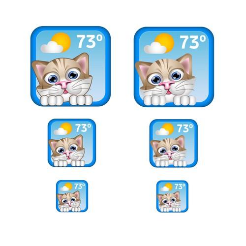 Cartoon style weather app