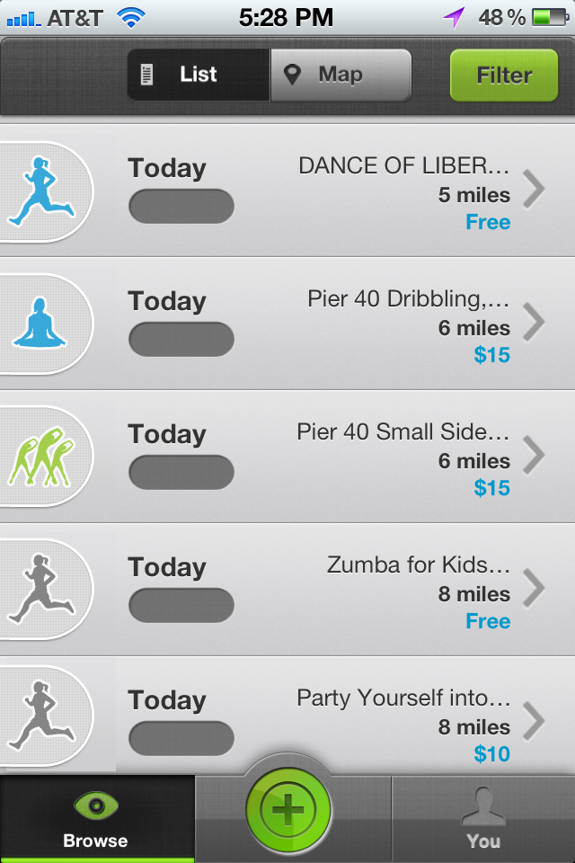 exercise-themed icons for Sportaneous