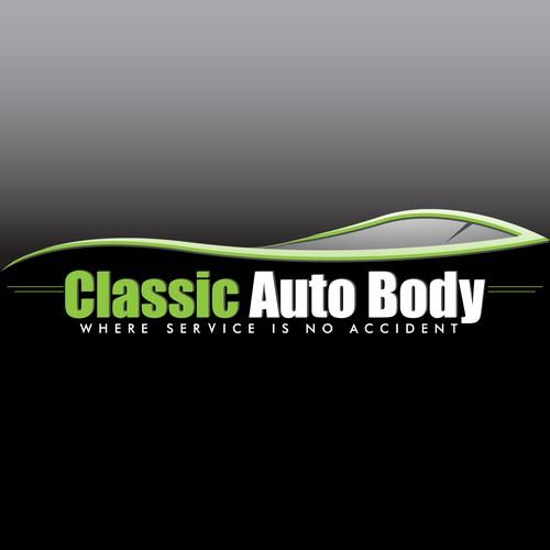Concept logo for an auto body shop