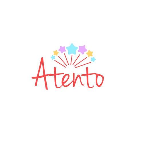 fun concept logo for Atento