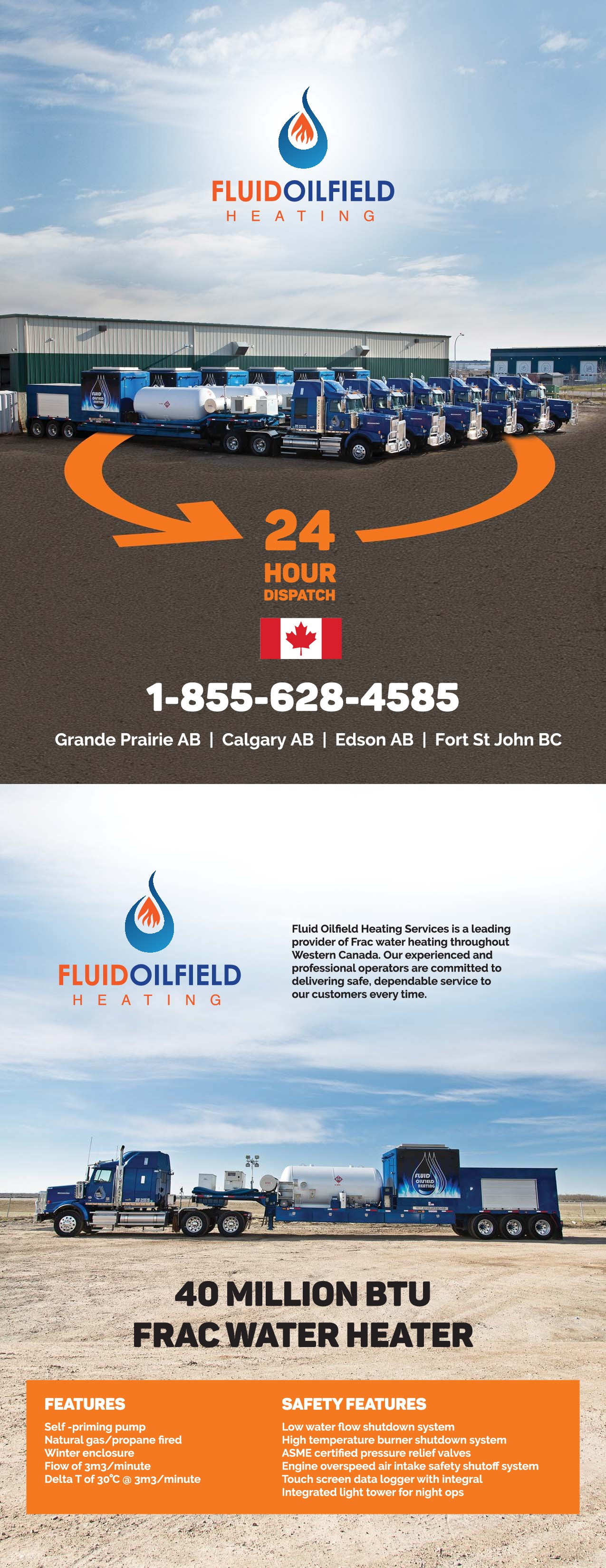 Logo and Flyer design for environmentally impactful, Canadian energy company!