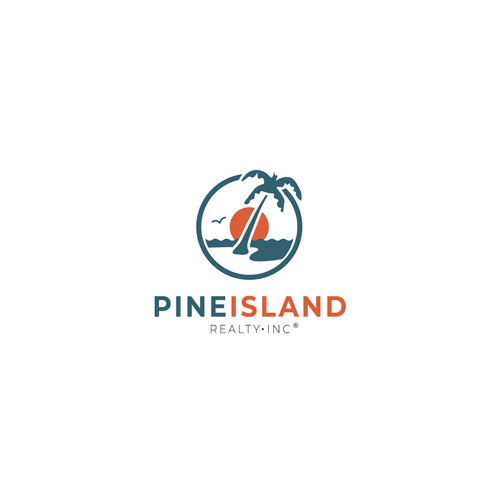 Logo for real estate on an island in Florida