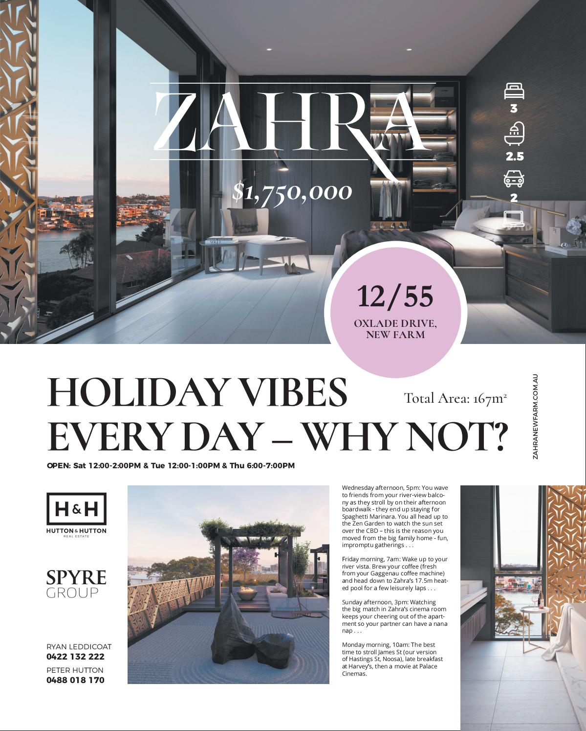 Zahra - Full Page Ad - CM & Bris News