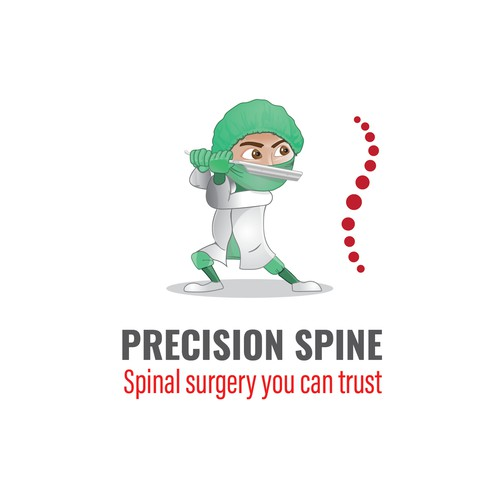 Cartoonish Logo for a spinal surgeon