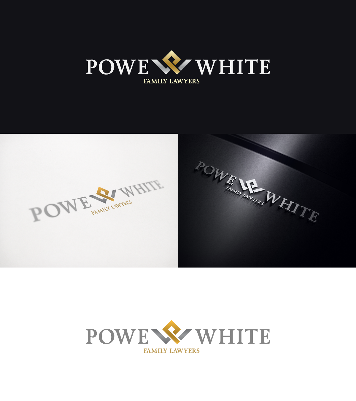 logo for Powe & White Family Lawyers