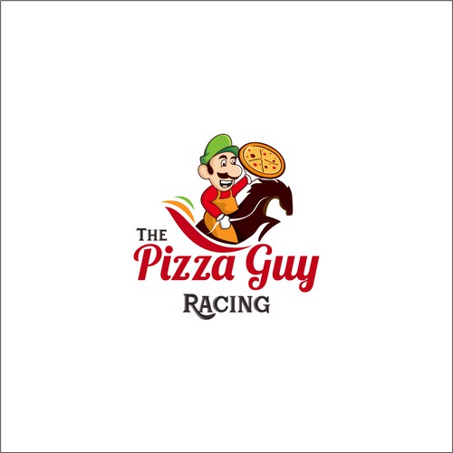 the pizza guy racing logo