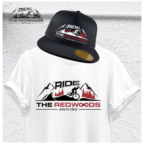 Logo concept for RIDE THE REDWOODS SANTA CRUZ