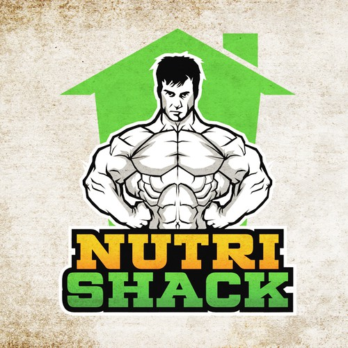 create the nutri shack ...well shack logo