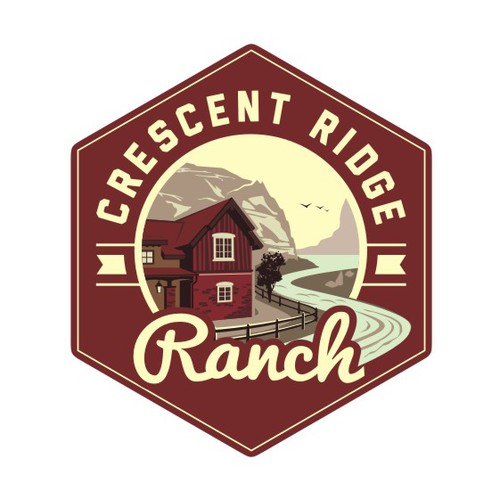 Classic logo for luxurious home sites with a view - Crescent RidgeRanch