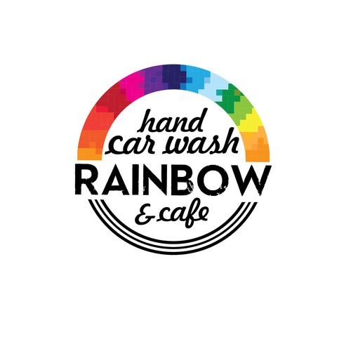 logo for car wash + cafe