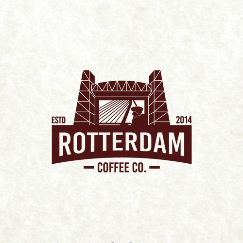 Bold logo for a coffee company