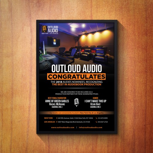 Outloud Audio Award Flyer