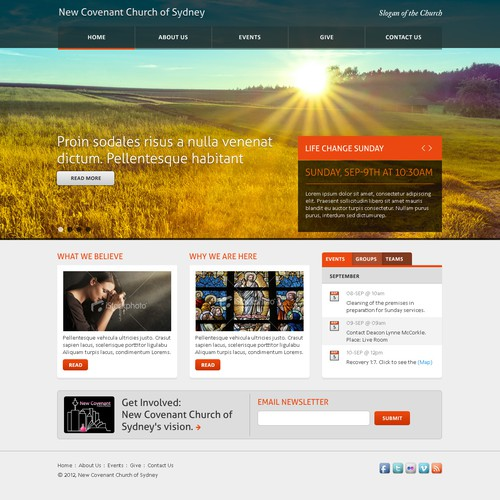 New Covenant Church of Sydney needs a new website design