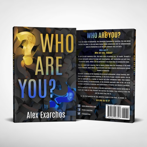 Book cover for the self-knowledge book «Who are you?»