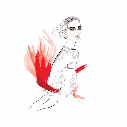 Illustration for debutante