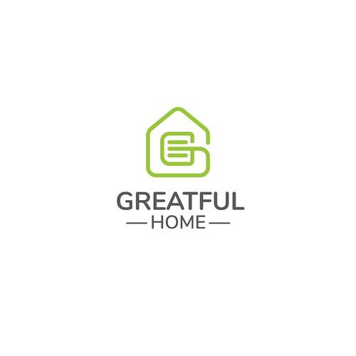 Creative logo design for Greatful Home.